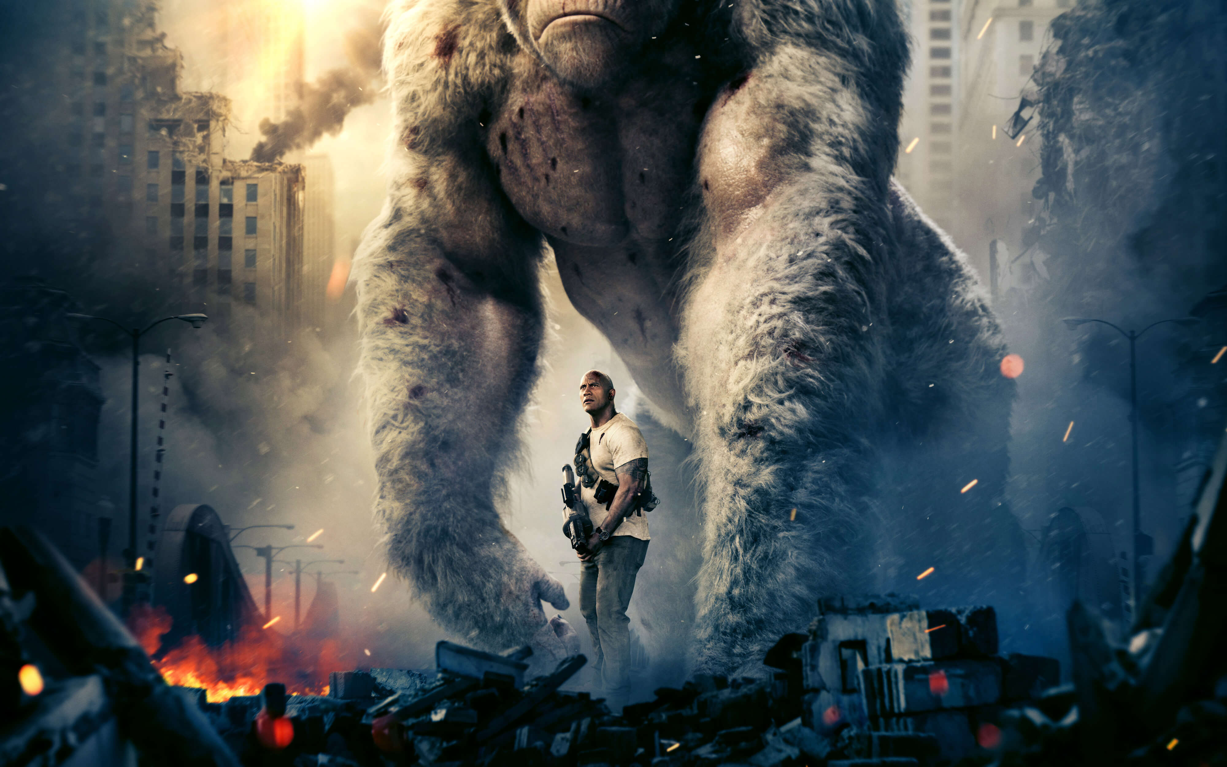 4k rampage movie widescreen wallpaper 63328