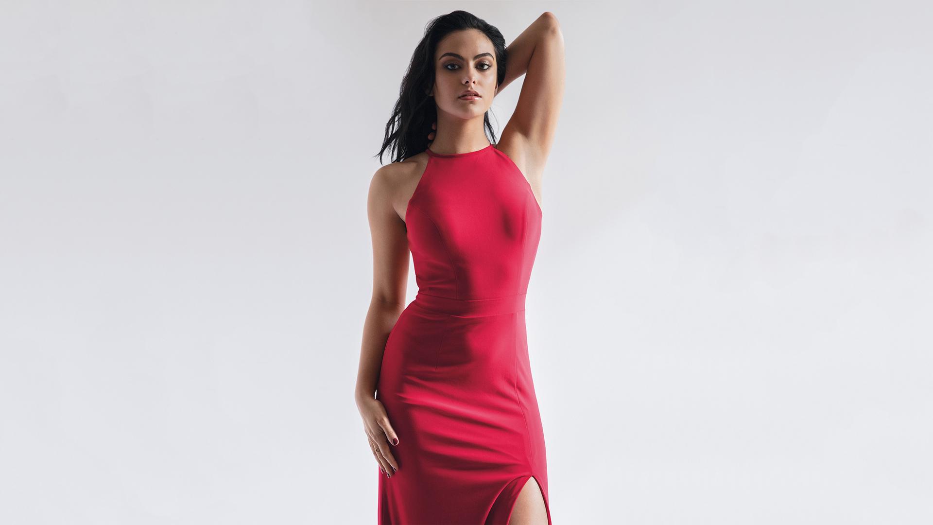 camila mendes red dress wallpaper 63323