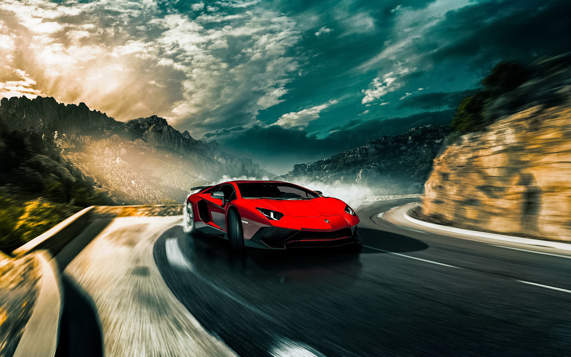Red Lamborghini Aventador Car Wallpaper 66275 1920x1200px