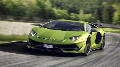 Green Lamborghini Aventador Wallpaper 66269