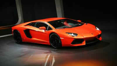 Orange Lamborghini Aventador Wallpaper 66276