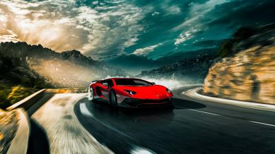 Red Lamborghini Aventador Car Wallpaper 66275