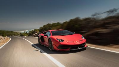 Red Lamborghini Aventador Wallpaper 66270