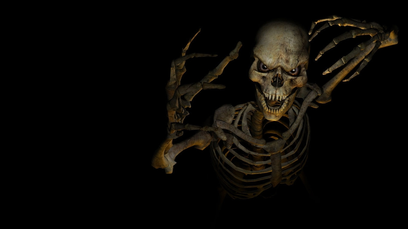 3d horror skeleton computer wallpaper 64706
