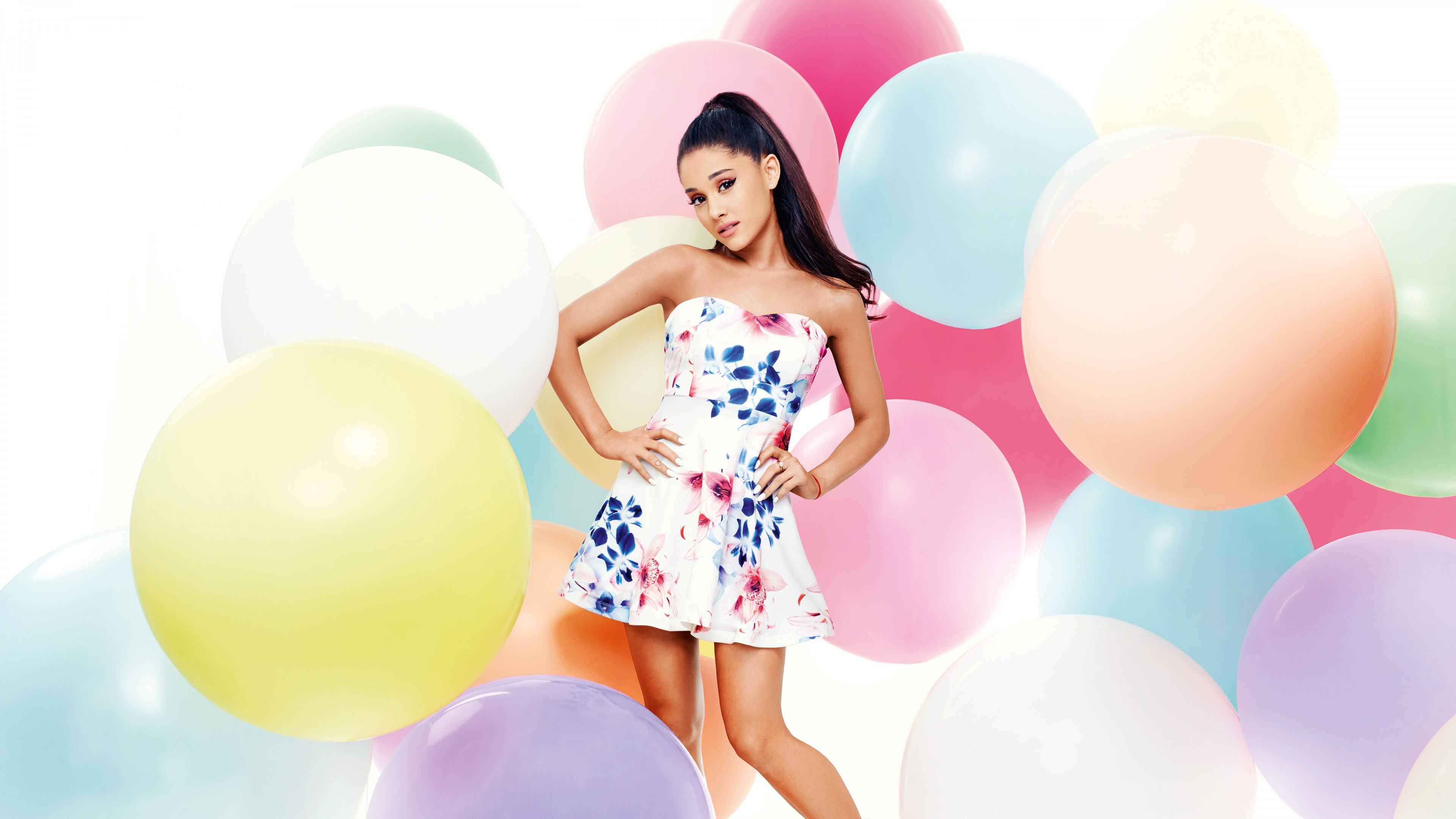 ariana grande colorful dress wide wallpaper 63380
