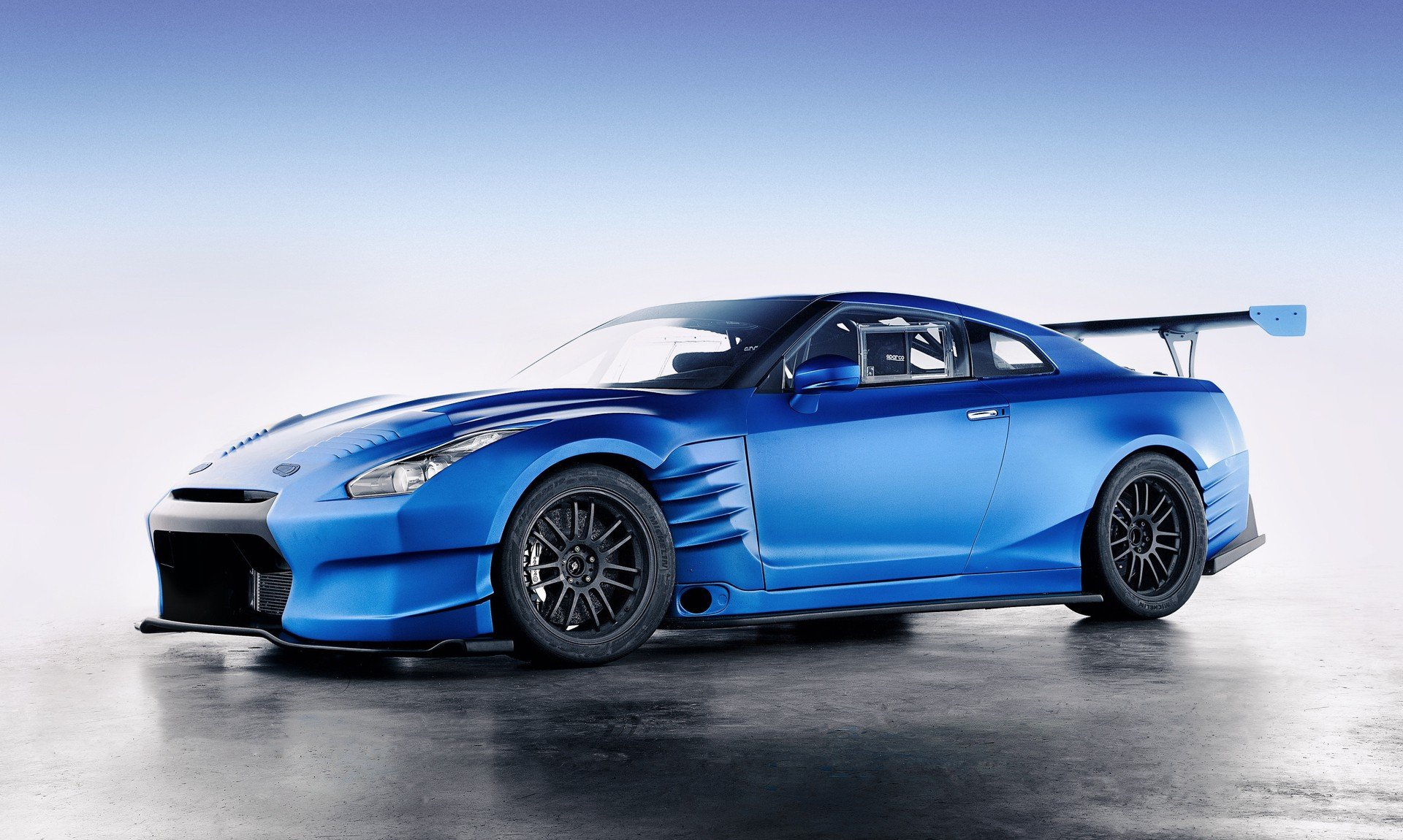blue modded nissan gtr wallpaper 64902