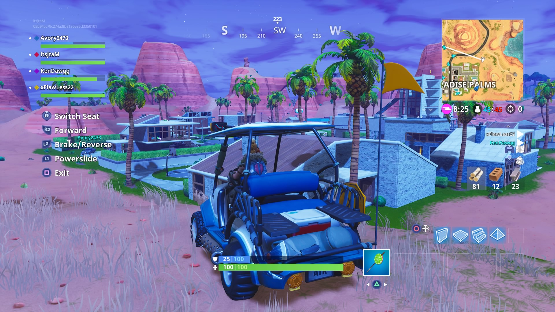 fortnite driving vehicle wallpaper background 64303