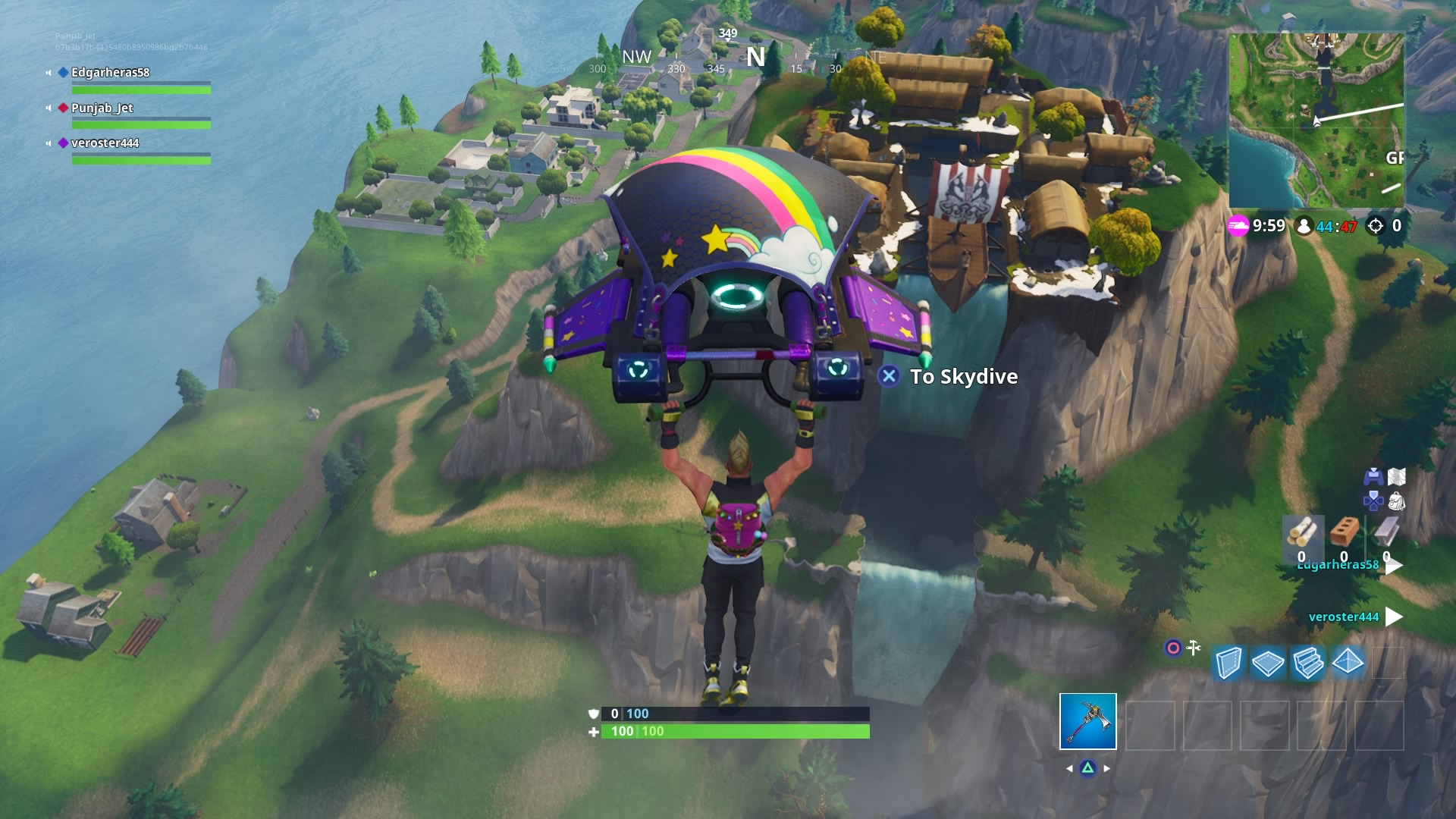 fortnite rainbow glider wallpaper 64501
