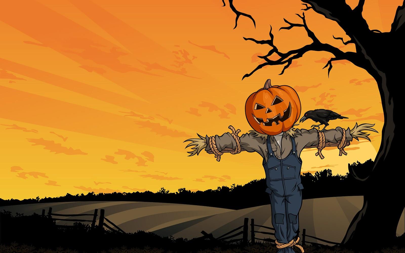 halloween scarecrow wallpaper 64890