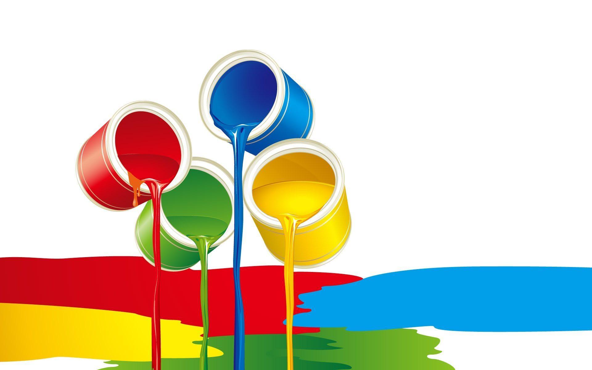 paint buckets desktop wallpaper 62593