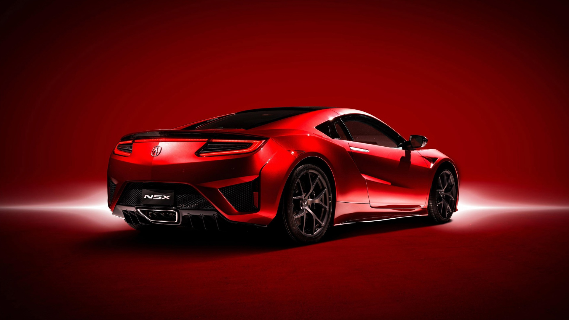 red acura rear view wallpaper 63394