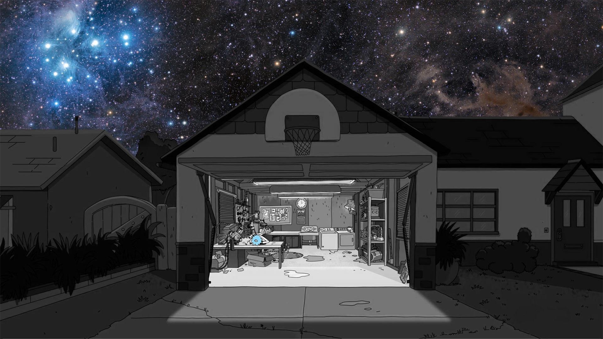 rick and morty garage hd wallpaper 63925