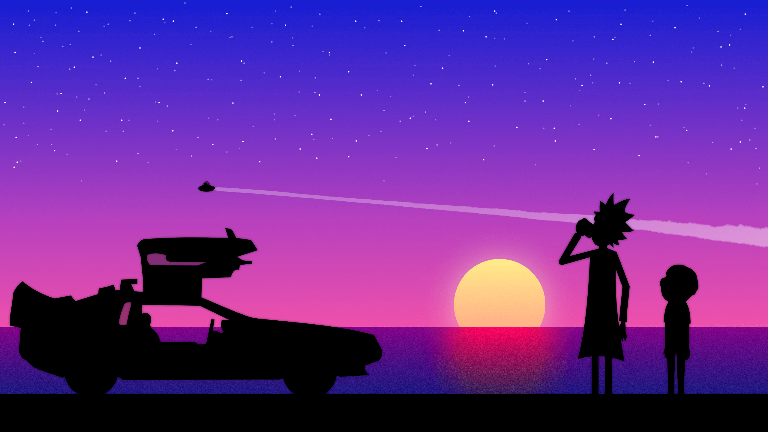 rick and morty sunset wallpaper background 63906