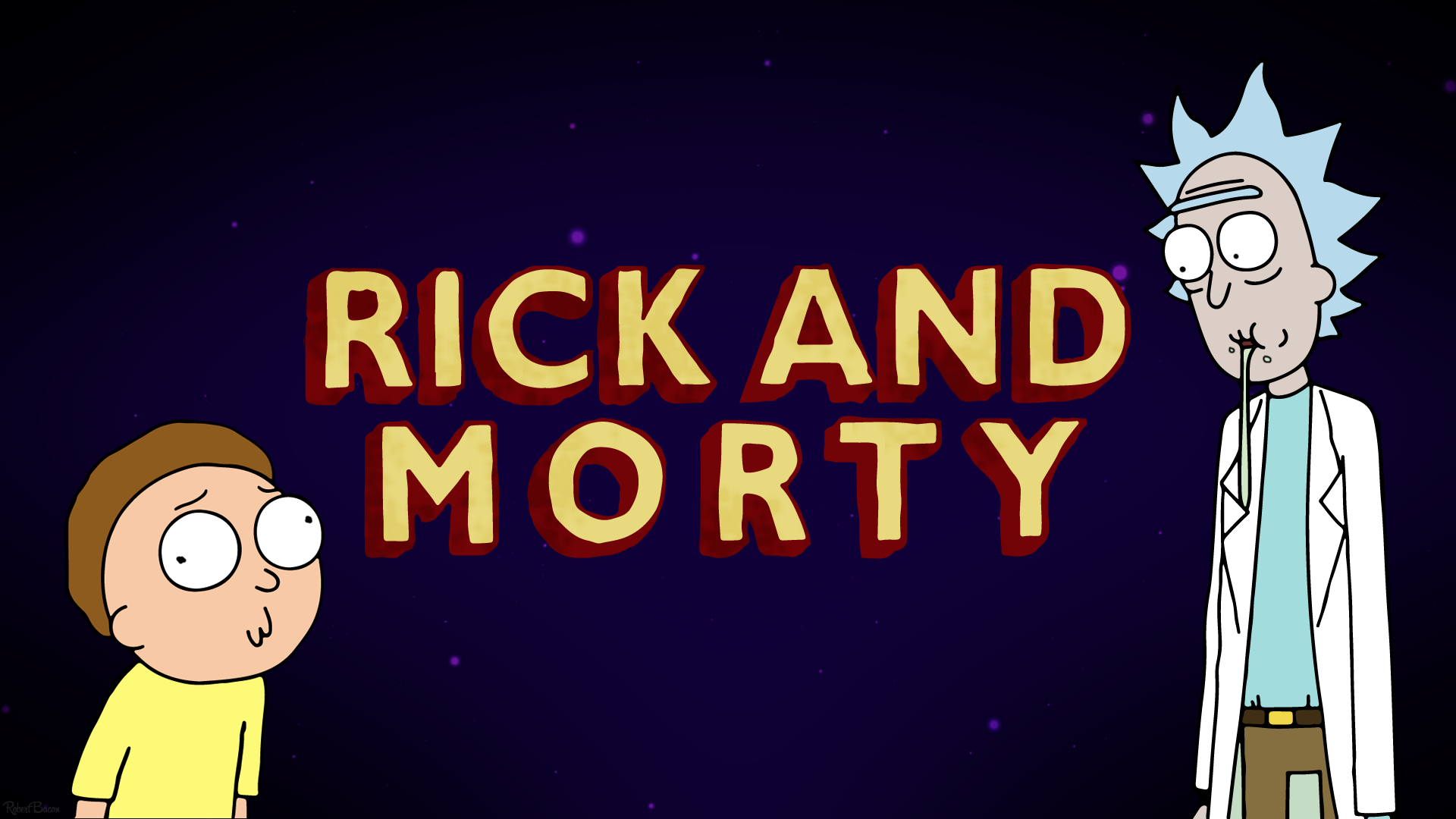 rick and morty tv show logo wallpaper 63909
