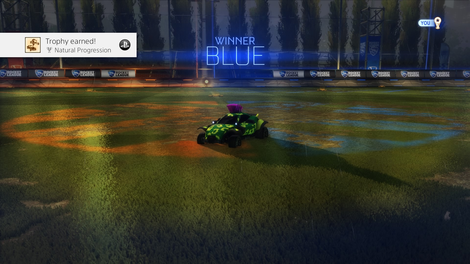 rocket league natural progression trophy wallpaper 64439