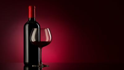 3D Wine Bottle Wallpaper Background 62573