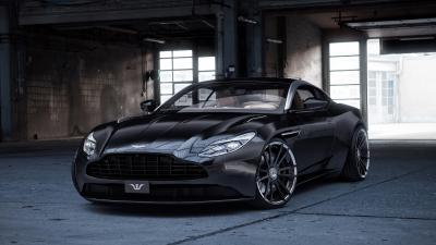 Black Aston Martin Car Wide Wallpaper 63486