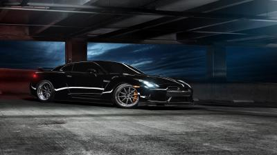 Black Nissan GTR HD Wallpaper 64900