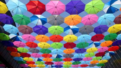 Colorful Umbrellas Wallpaper Background 64897