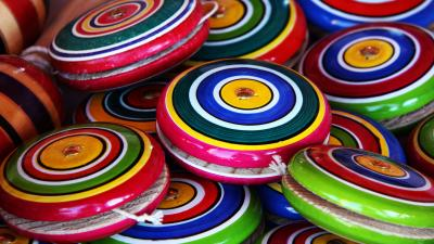 Colorful YoYos Wallpaper Background 62946