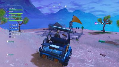 Fortnite Driving Golf Cart Desktop Wallpaper 64306