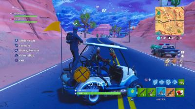 Fortnite Driving Golf Cart Wallpaper 64396