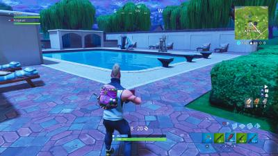 Fortnite Lazy Links Pool Wallpaper 64509