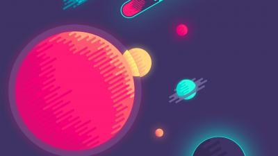 Minimal Digital Art Space Wallpaper Background 64899