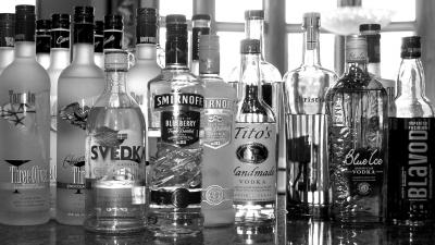 Monochrome Vodka Wallpaper 66295