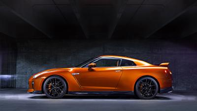 Orange Nissan GTR Desktop Wallpaper 64901