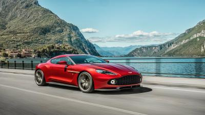 Red Aston Martin Rolling Shot Wallpaper 63483