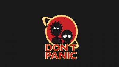 Rick and Morty Dont Panic Wallpaper 63900