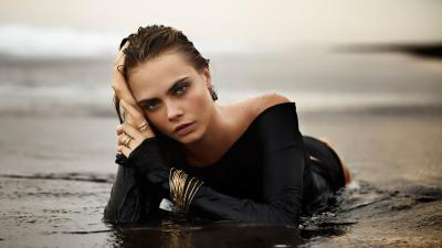 Sexy Cara Delevingne Bathing Suit Wallpaper 64686