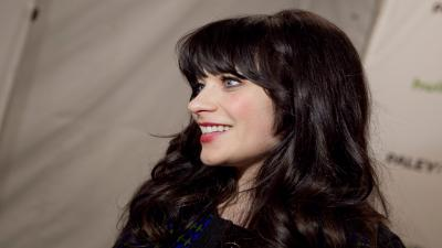 Zooey Deschanel Celebrity Smile Widescreen Wallpaper 63505