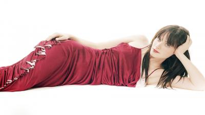 Zooey Deschanel Red Dress Wallpaper 63501