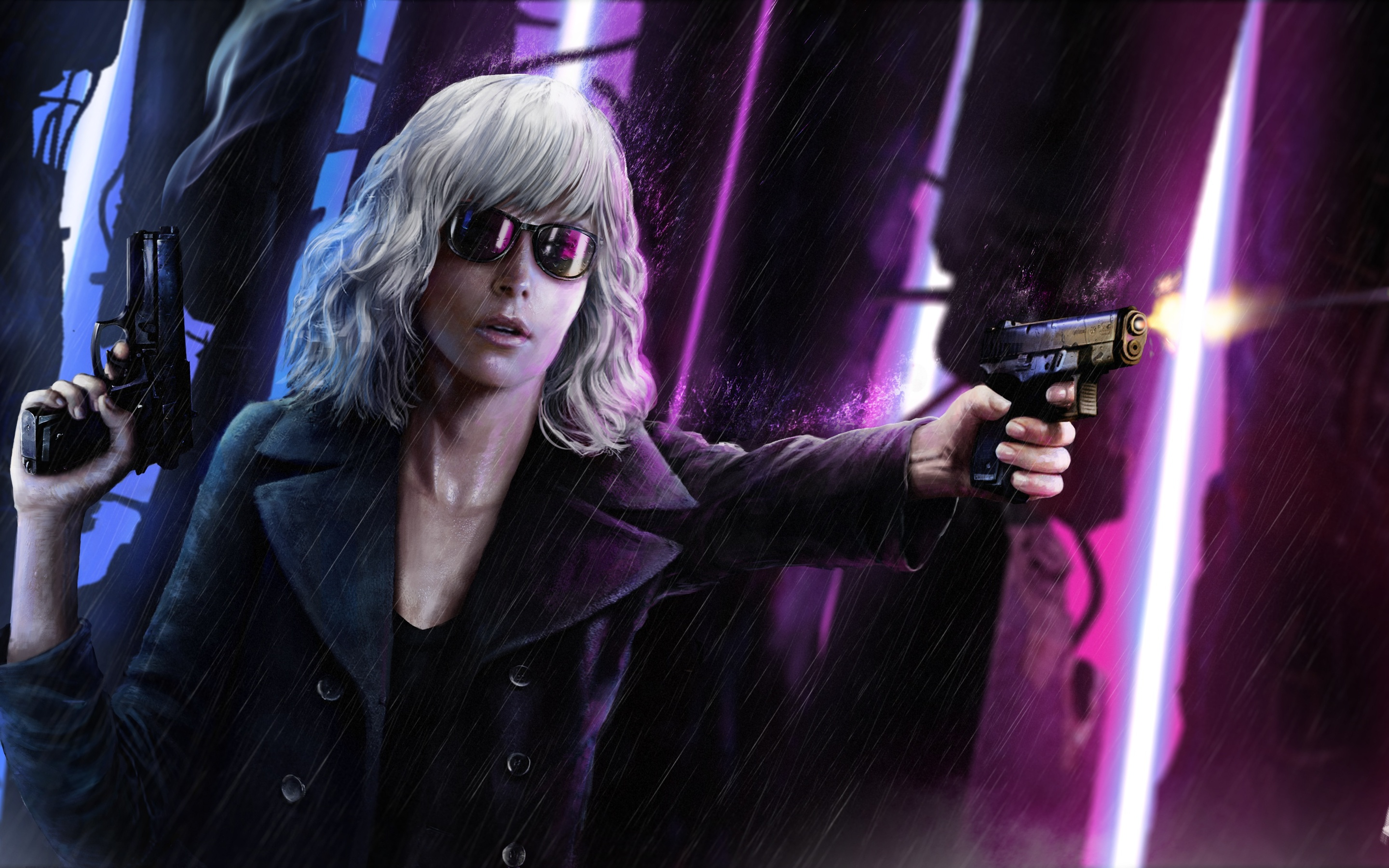 atomic blonde artwork wallpaper background 63113