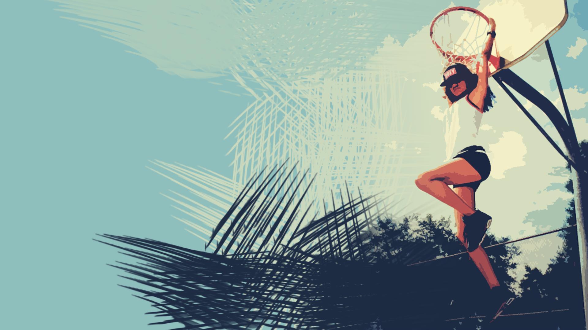 Basketball Woman Dunk Hd Wallpaper 64291 1920x1080px