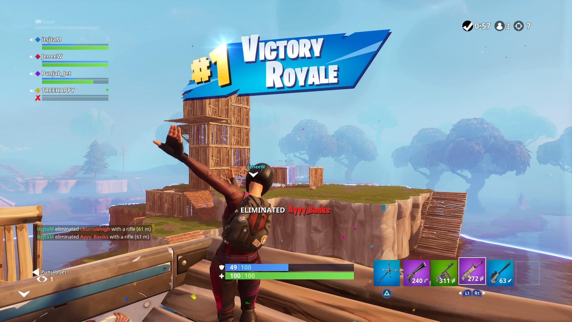 fortnite squad victory wallpaper 64829