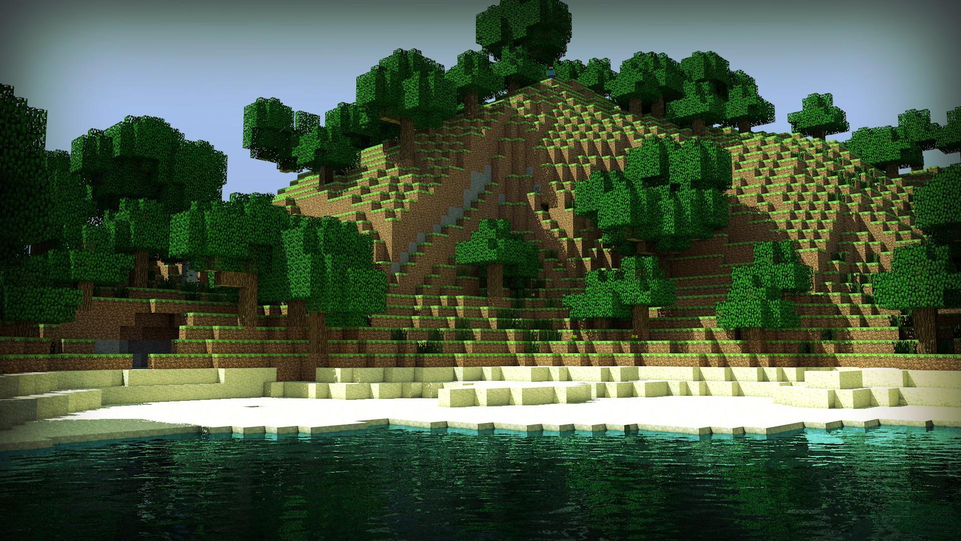 Minecraft Mountain Wallpaper 62683 1920x1080px