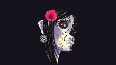 Day of the Dead Woman Face Wallpaper 63368