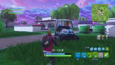 Fortnite Golf Cart HD Wallpaper 64820