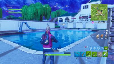 Fortnite Lazy Links Pool Computer Wallpaper 64819