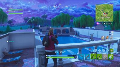 Fortnite Lazy Links Pool Wallpaper 64818