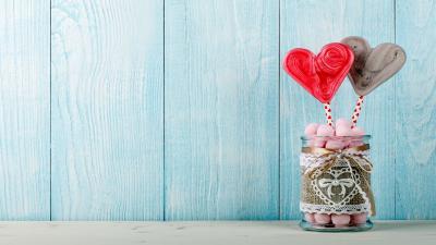 Love Heart Candy Widescreen HD Wallpaper 62731