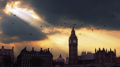 Big Ben Sunbeam HD Wide Wallpaper 64234