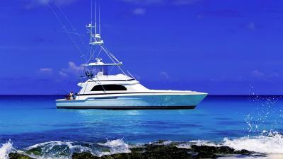 Fishing Boat Desktop Wallpaper Background 64063