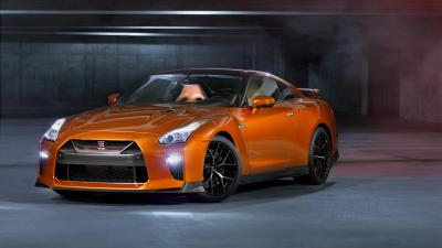 Orange Nissan GTR Widescreen HD Wallpaper 63321
