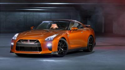 Orange Nissan GTR Widescreen HD Wallpaper 63321