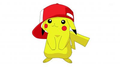 Pikachu Hat Background Wallpaper 64920