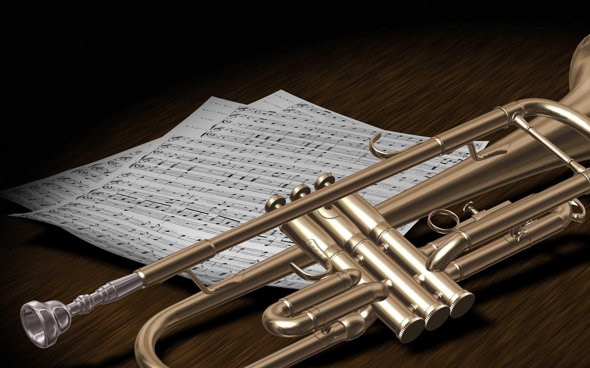 3d trumpet desktop wallpaper 63163